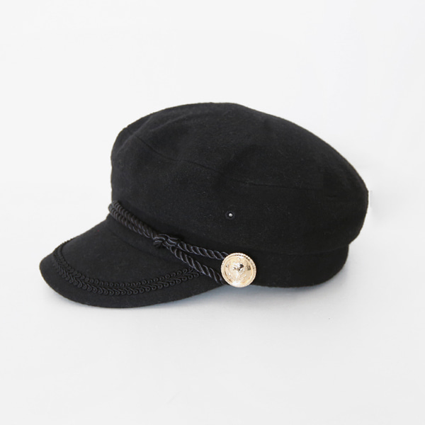 Gold-Tone Accent Skipper Cap
