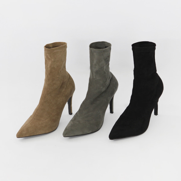 Pointed Toe Heeled Ankle Boots