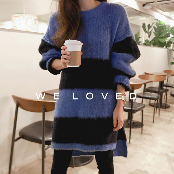 Two Tone Oversized Knit Sweater