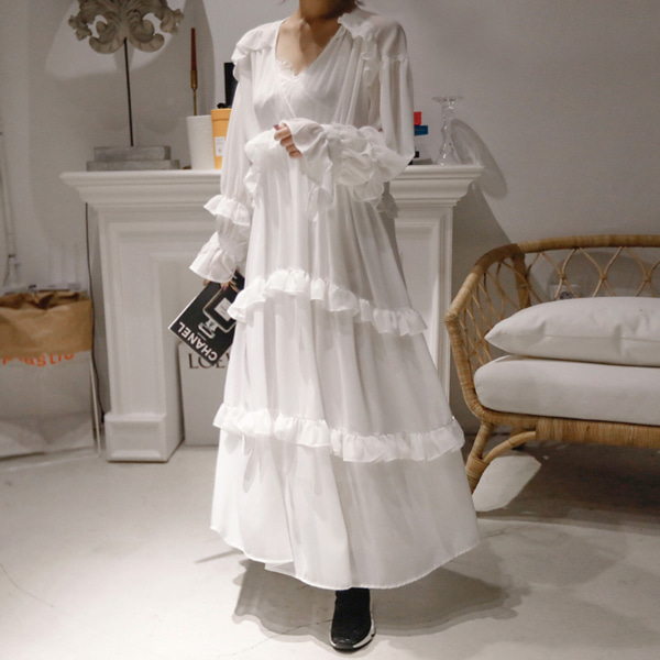 Frilled Midaxi Dress