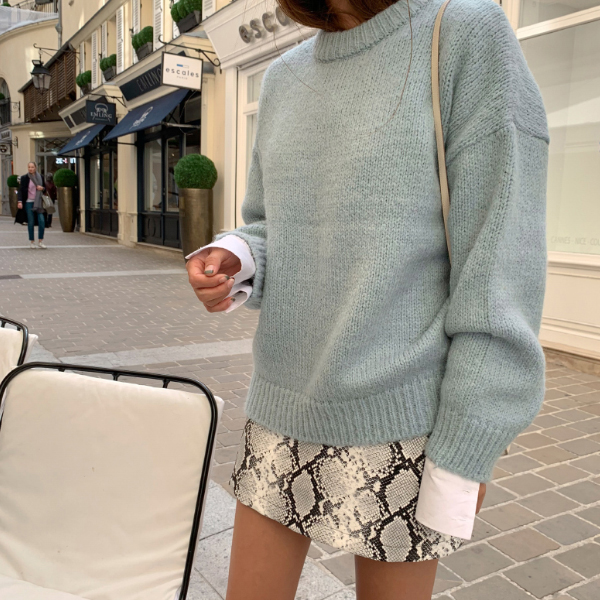 Solid Tone Pullover Sweater