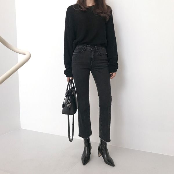 Cropped Straight Leg Pants