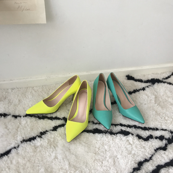 Solid Tone Pointed Toe Pumps