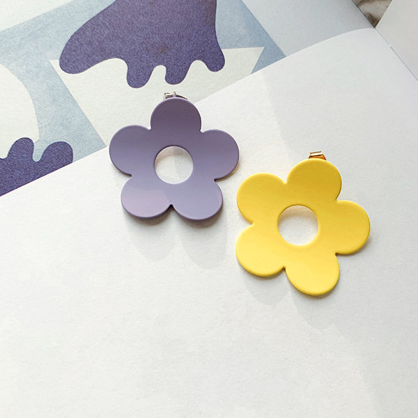 Bold Flower Stud Earrings