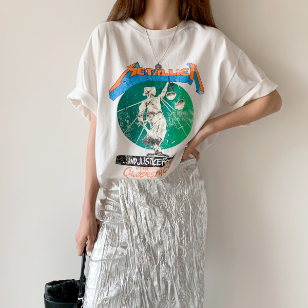 Graphic Print Wide Sleeve T-Shirt