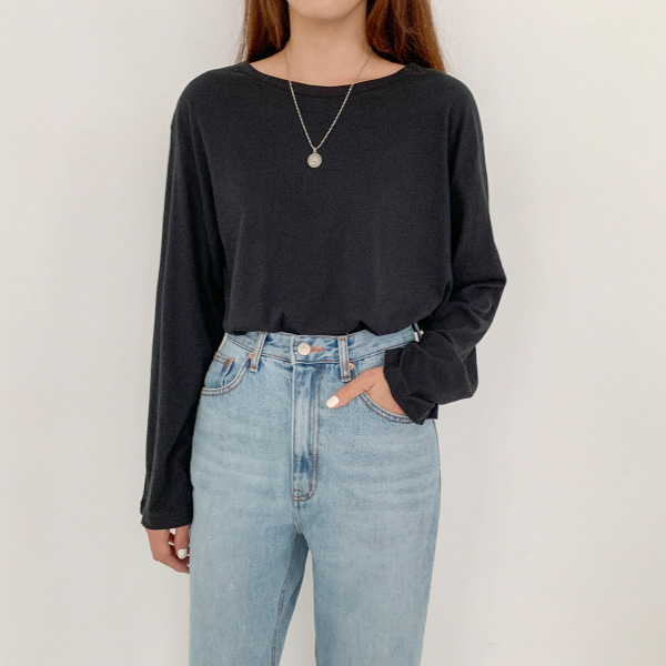 Extended Sleeve Cotton T-Shirt