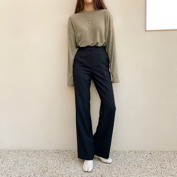 High Waist Full Length Slacks