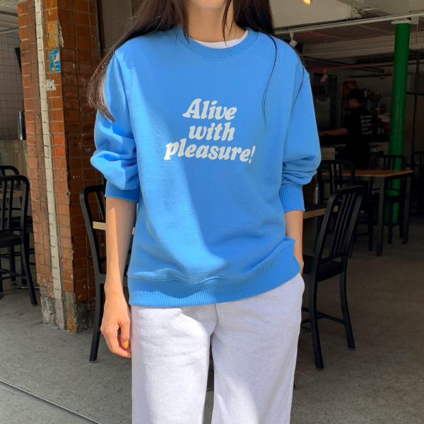 Contrast Text Print Sweatshirt