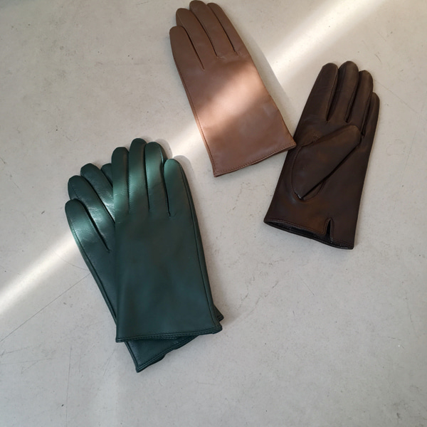 Fuzzy Lining Leather Gloves