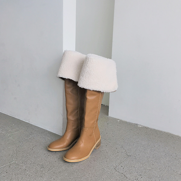Sherpa Fleece Cuff Tall Boots