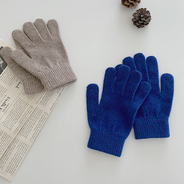 Ribbed Cuff Knit Gloves