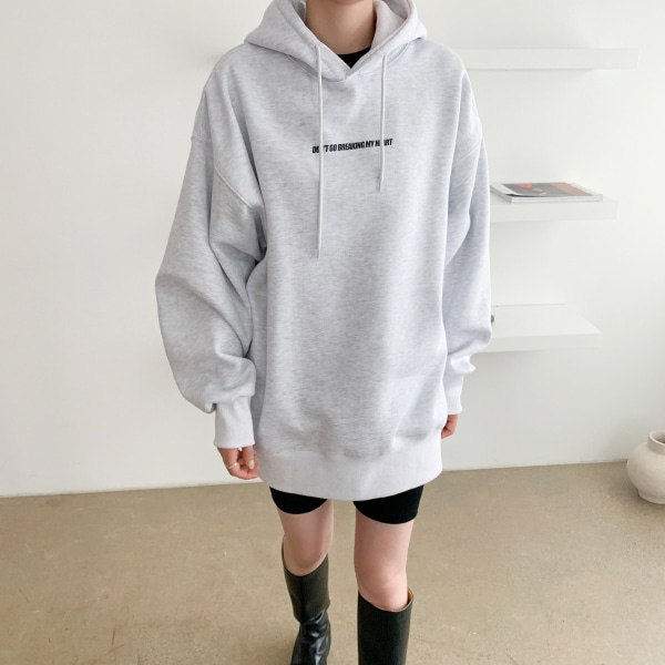 Text Print Oversized Hoodie