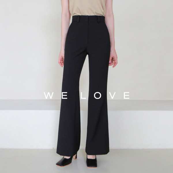 High Waist Solid Color Bootcut Pants