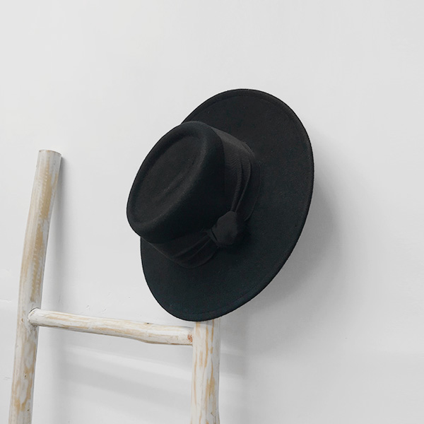 Flat Brim Pork Pie Hat
