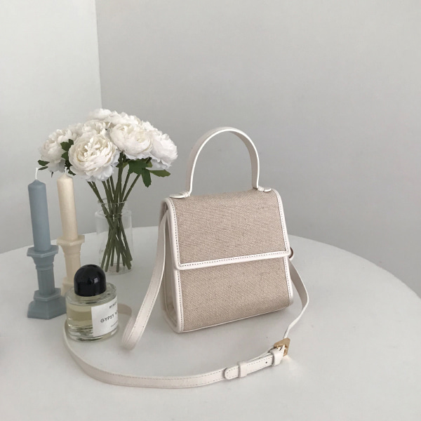 Two-Tone Boxy Bag