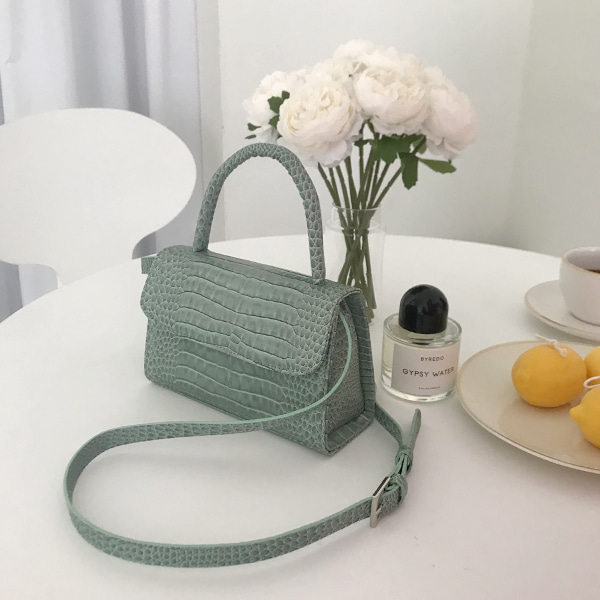 Croc Texture Structured Bag