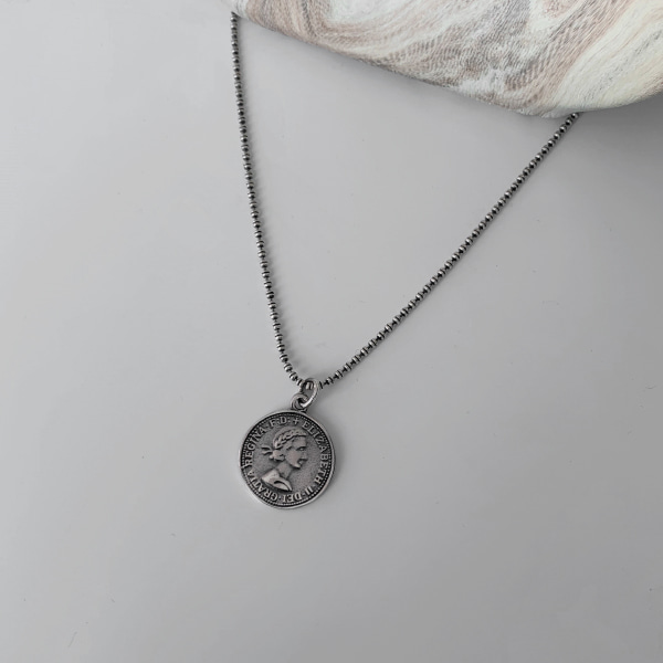 Coin Pendant Ball Chain Necklace