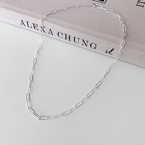 Silver Tone Chain Necklace