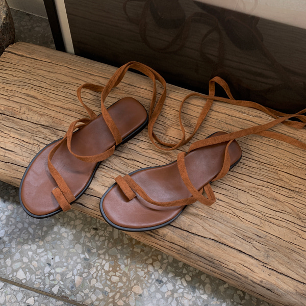 Toe Loop Wraparound Strap Sandals