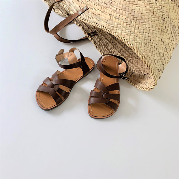 Cage Upper Flat Sandals