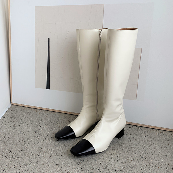 Square Toe Mid Heel Tall Boots