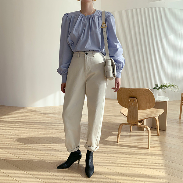 Contrast Accent Loose Pants